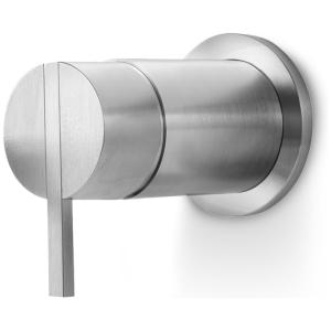 Linki STY 105 zawór przełączający 3 drożny (bateria prysznicowo wannowa) jednouchwytowa podtynkowa stal nierdzewna szczotkowana