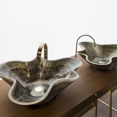 Kreoo umywalki nablatowe z marmuru
