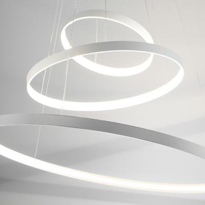 Zava lampa wisząca żyrandol koła okręgi rings