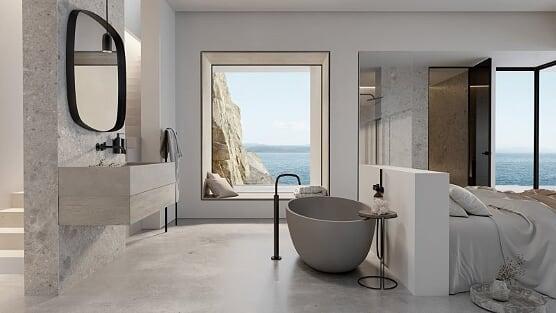 Cocoon nowoczesna łazienka