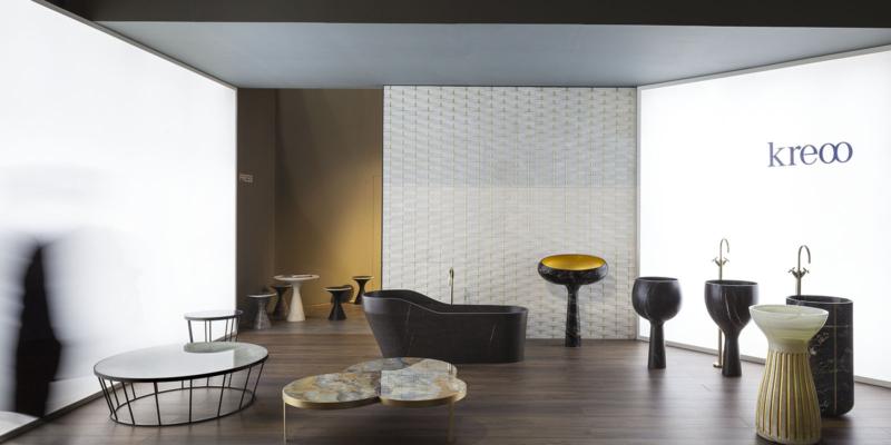 Kreoo umywalki wanny stoliki z marmuru