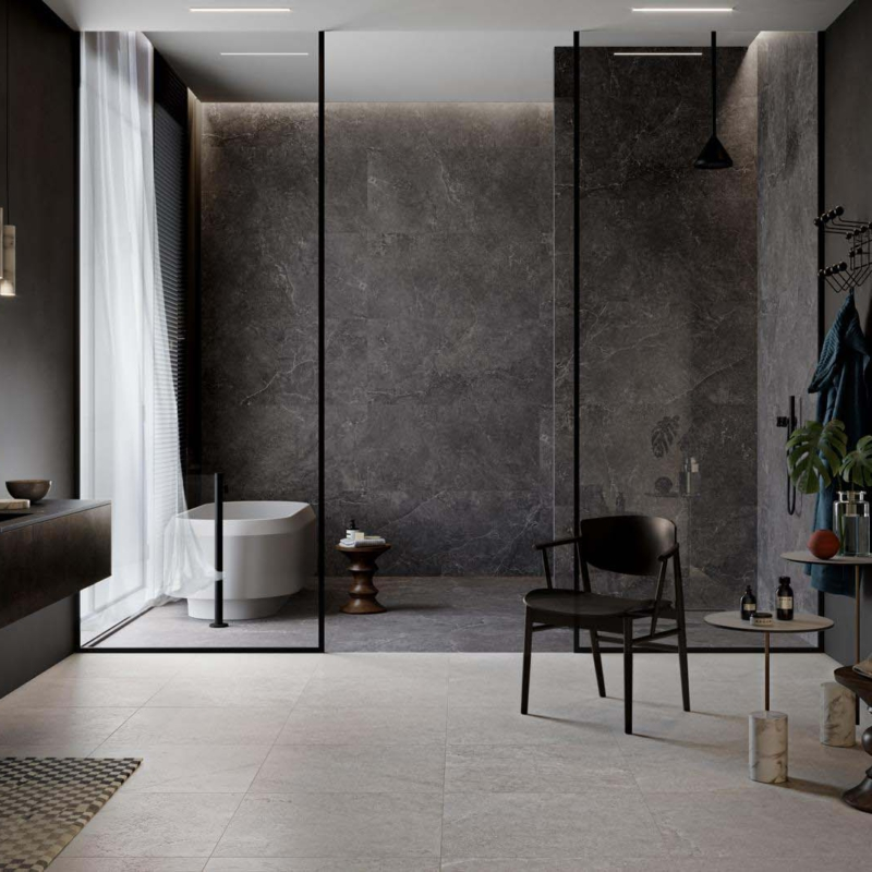 Cotto d este deste lithos carbon naturale 14mm carbon sabbiata 14mm stone sabbiata 14mm bathroom płytki ceramiczne okładziny podłogowe ścienne