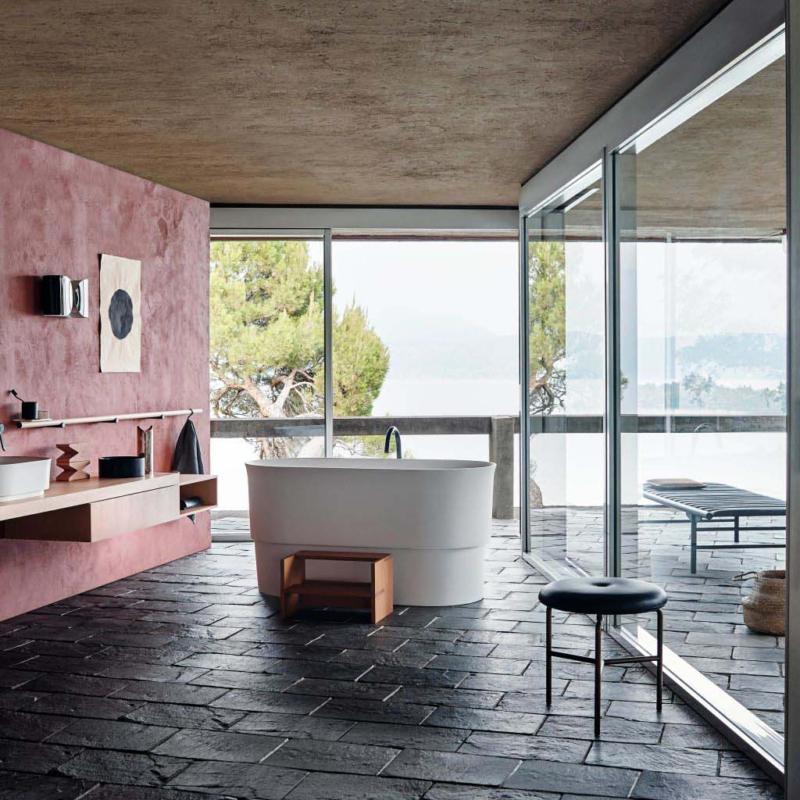 Agape immersion free standing bathtub neri&hu umywalka wanna wolnostojąca nablatowa łazienka salon kąpielowy ceramika