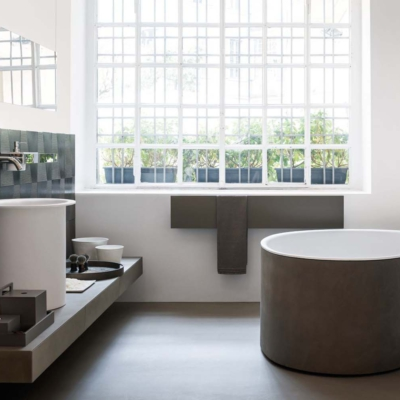 Agape teaches benedini associati bathtub mk27 studio wanna wbudowana łazienka salon kąpielowy ceramika