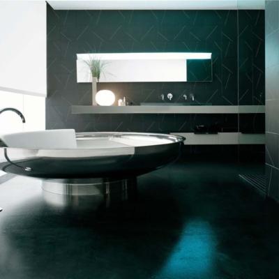 Agape ufo free standing bathtub bendini associati wanna wolnostojąca nablatowa łazienka salon kąpielowy ceramika