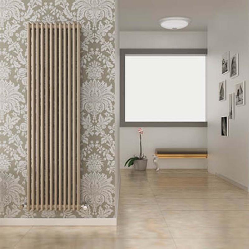 Cordivari ardesia 2 column tubular radiator grzejnik dekoracyjny beżowy