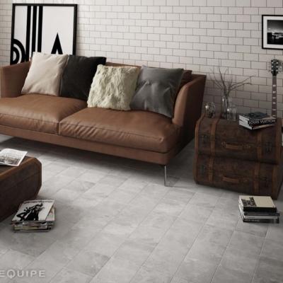 Equipe ceramicas urban silver salon płytki podłogowe ceramiczne