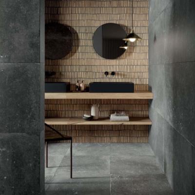 Flaviker black domino black nordik wood gold plyta ceramika plyta ściana podłoga łazienka