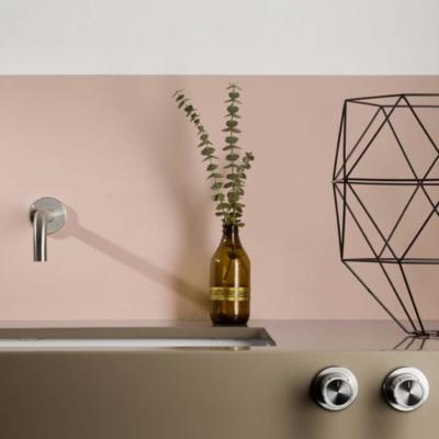 Mina inox synth wall mounted washbasin spout with remote controls 4618 armatura bateria umywalkowa bateria łazienkowa