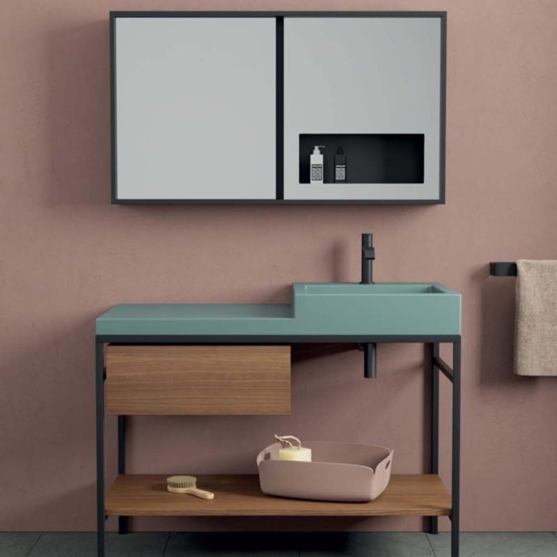 Nic design simple cabinet with ceramic washbasin szafka łazienkowa
