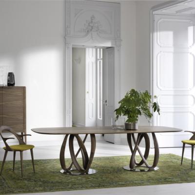 Porada infinity jadalnia stolik stół lite drewno mrble krzeslo