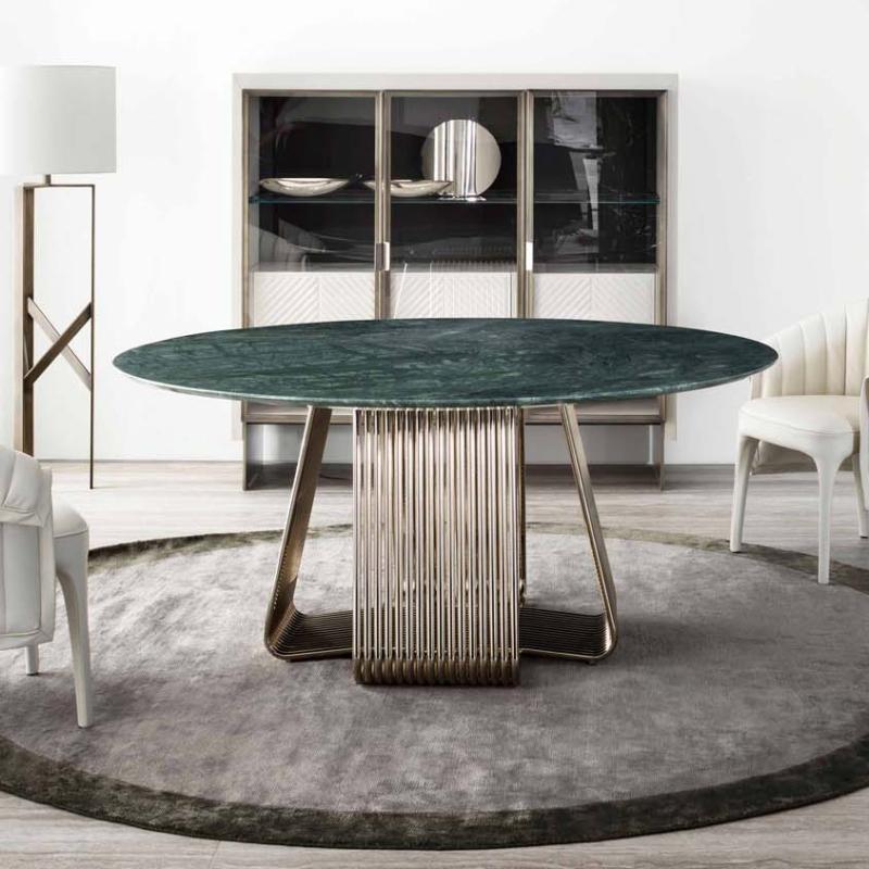 Rugiano alyson round manta gatsby iole salon jadalnia stół krzesła