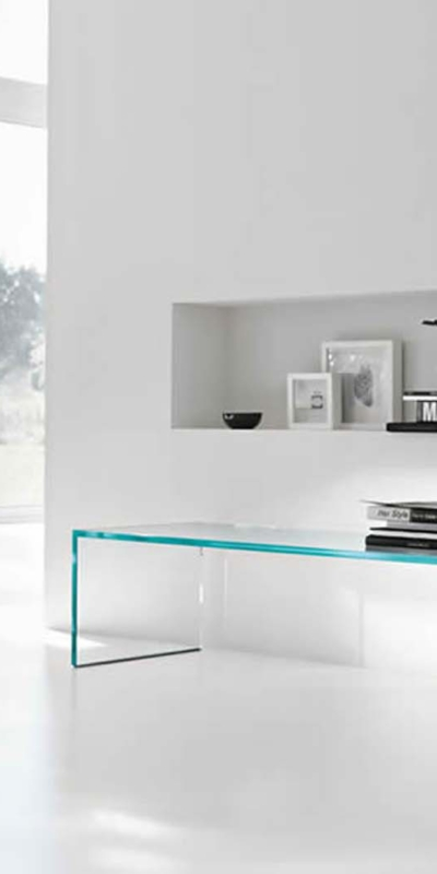 Tonelli design szkło biuro stół capo horn