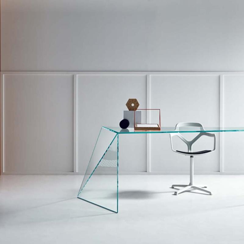 Tonelli design szkło biuro stół penrose