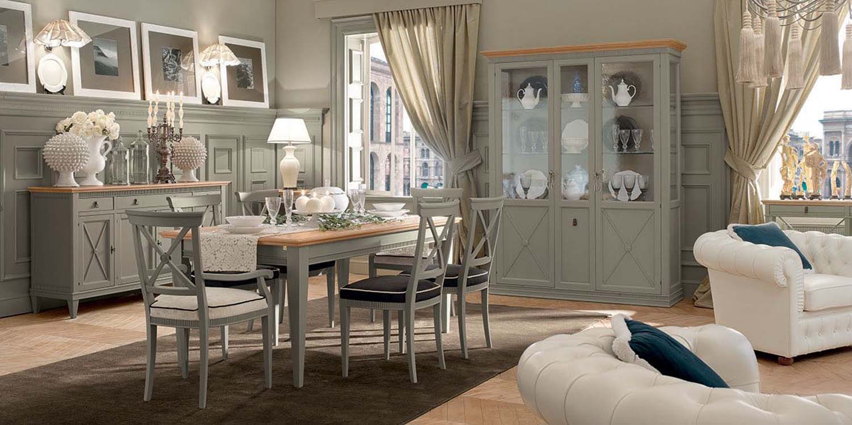 Tosato verona meble włoskie zestaw jadalnia stół krzesła vetrina e retrodivano