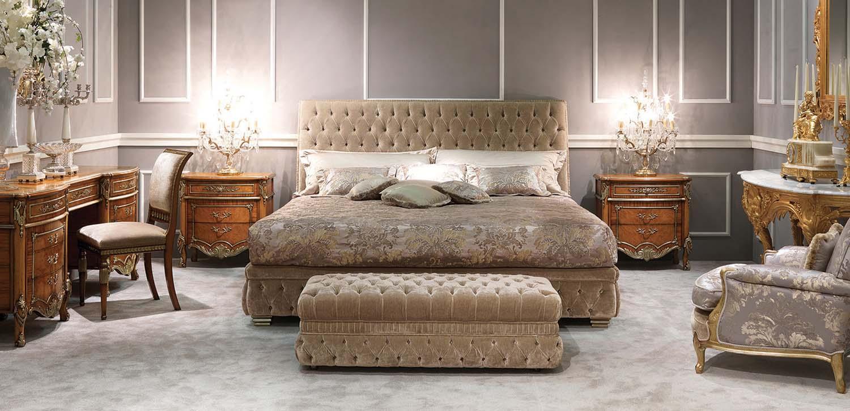 Zanaboni capri classic bedroom sypialnia łóżko konsola komoa toaletka lawa
