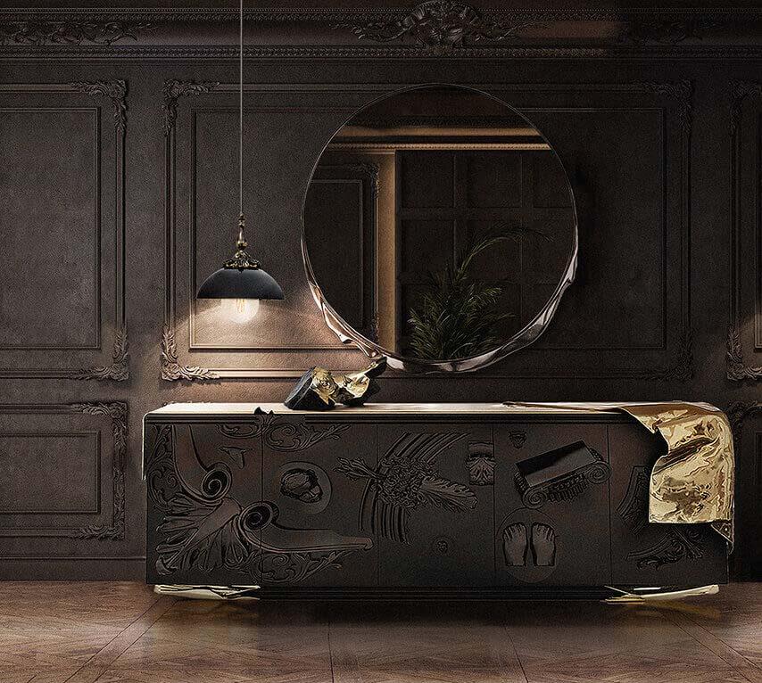 Boca do lobo lampa lustro   komoda voltaire Warsaw Design Salon Warszawa