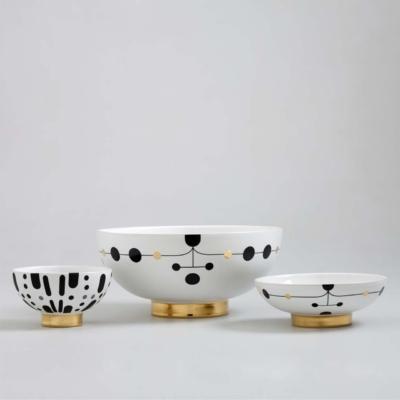 Bosa ceramiczne miski recznie   ozdabiane zlote Warsaw Design Salon Warszawa