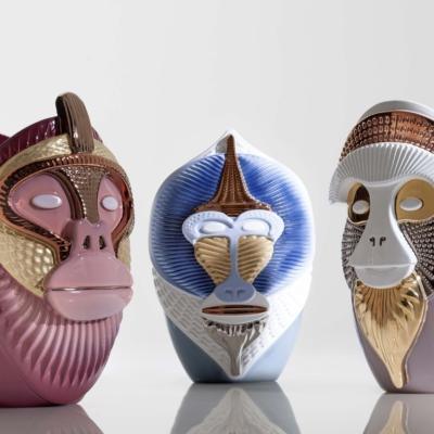 Bosa wazon ceramiczny trade   afryka malpa Warsaw Design Salon Warszawa