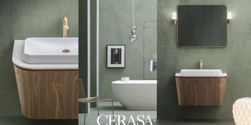 Cerasa meble łazienkowe   imitujace drewno Warsaw Design Salon Warszawa