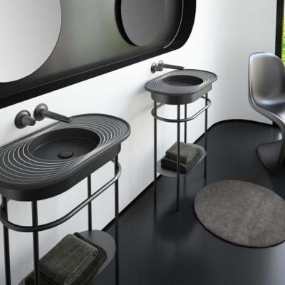 GlassDesign czarna designerska   umywalka Warsaw Design Salon Warszawa