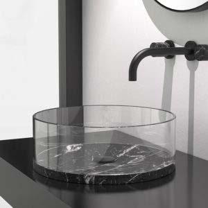 GlassDesign okragla szklana   umywalka nero marquina Warsaw Design Salon Warszawa