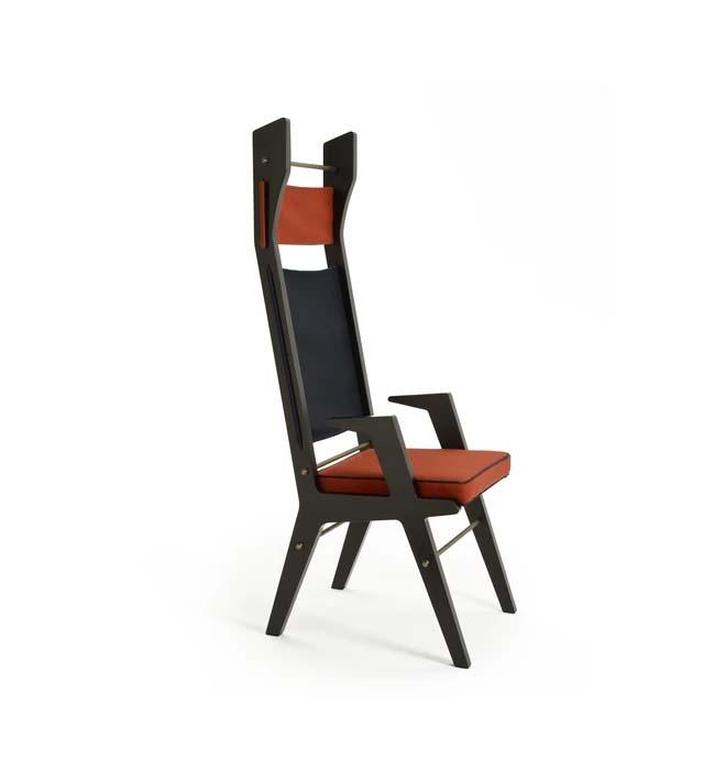 Lorenza Bozzoli colette   wysokie czarne krzesło Warsaw Design Salon Warszawa
