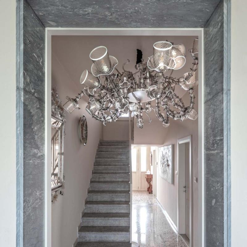 Multiforme żyrandol lampa   wisząca murano villa Franciacorta Warsaw Design Salon Warszawa