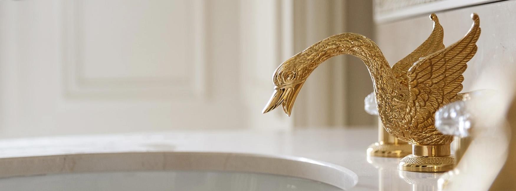 Stella swan bateria zloto luksusowa armatura wloska Ritz
