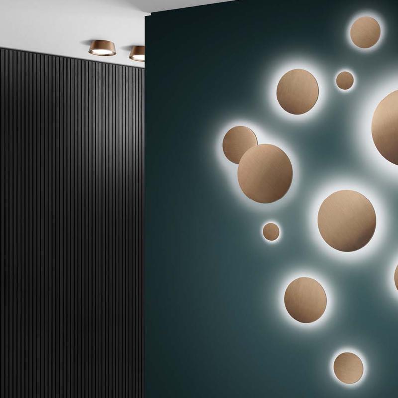 light point lampki naścienne   okragle rozowe zloto Warsaw Design Salon Warszawa