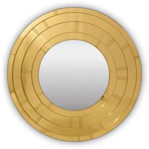 BLAZE Ścienne lustro łazienkowe mosiądz, lustro kolor mosiężny, złoty