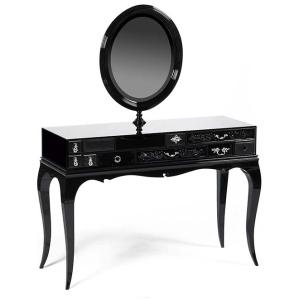 MELROSE Toaletka klasyczna lakierowane drewno kolor czarny,