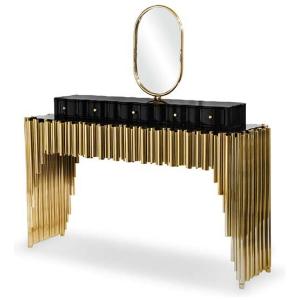 SYMPHONY Toaletka oryginalne wzornictwo mosiądz kolor czarny, złoty
