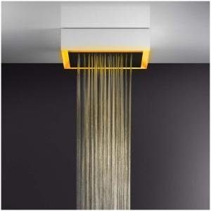 Gessi AFILO 57503 Deszczownica natynkowa 500x500 mm z funkcja deszczu i oswietleniem do chromoterapii do montazu w suficie suficie podwieszanym wiele kolorow 279 Biały CN