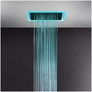 Gessi AFILO 57509 Deszczownica podtynkowa 500x500 mm z funkcja deszczu kaskady i nebulizatora mgielki i oswietleniem do chromoterapii do montaz wiele kolorow 279 Biały CN