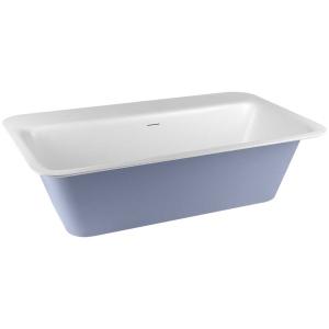 Gessi ISPA BATH 37592 Wolnostojaca wanna z Cristalplant® matowa biel 180x96xh55 cm z boczna sciana wiele kolorow