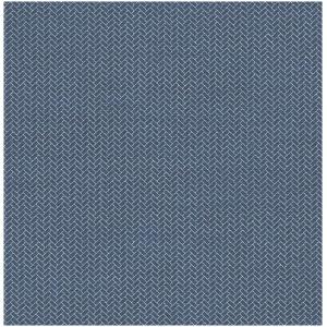 Wallquest Barclay Butera  WBP10212 Tapeta drobna cegiełka jodełka klepka wzór geometryczny niebieski biały tapeta o szerokości 52 cm  i długości 10 m  winylowa