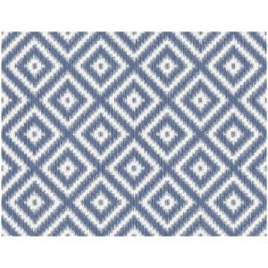 Wallquest Barclay Butera  WBP10802 Tapeta romby wzór geometryczny niebieski biały prążki tapeta o szerokości 68,58 cm  i długości 8 m  tekstylna